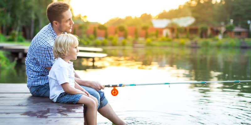 Fishing with your family