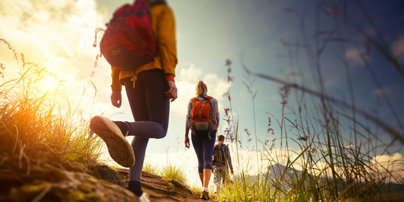 Hiking for mental health improvement