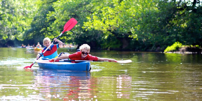 kayaking with kids as great outdoors
