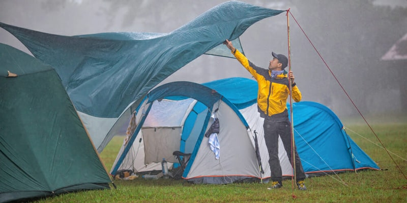 tips for camping during wet weather