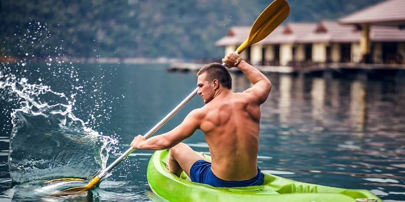 Kayaking to develop Back Muscles