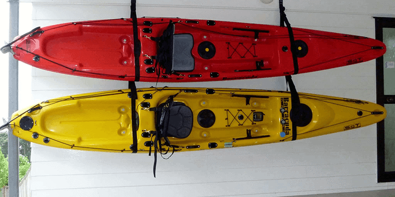 Storing Kayak On The Wall
