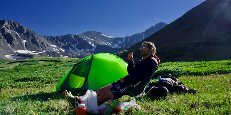 guy with tent
