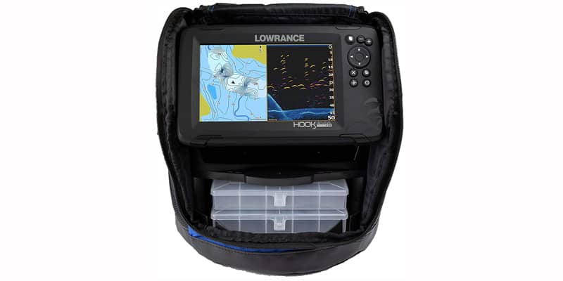 Lowrance Hook Reveal 7 Fish Finder 7 Inch Screen With Transducer and C-MAP Preloaded Map Options