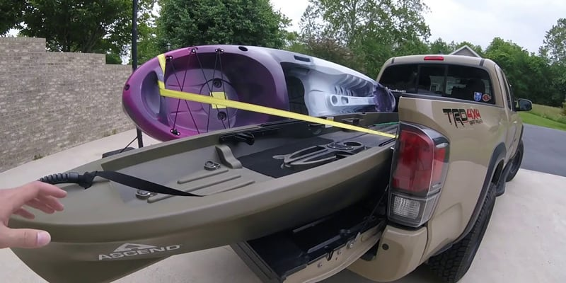 Loading your kayak on a truck bed